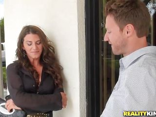 Leena Sky is a sexy brunette lady who has a perfect hot body for a milf. She meets this guy who is planning to bang her nice-looking hard. Watch this woman getting enticed by the guy's sweet talks and smiles. And in a short time the guy takes her to his home. You better watch than read the rest of Leena's story!