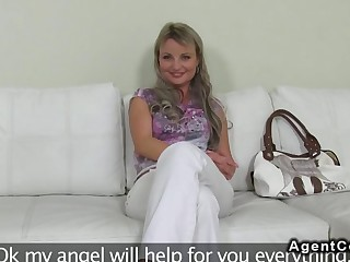 Blonde doggystyle drilled on her casting session