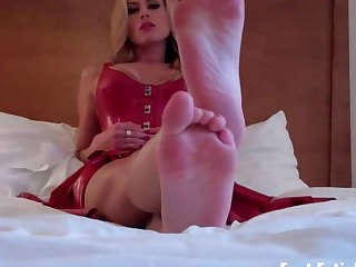 Get on your knees and worship my feet video