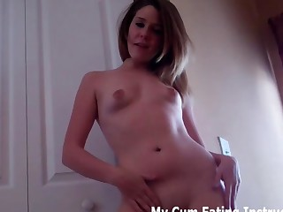 Jerk your dong to my constricted 19 year old body JOI