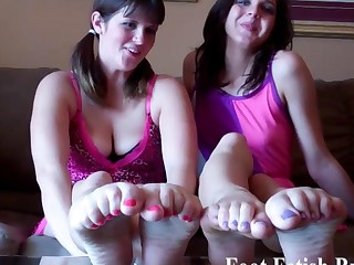 You want to suck on our sexy little toes dont u