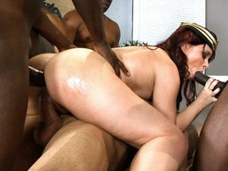 Welcome to America Olga, here are four BODACIOUS BLACK COCKS for you to fuck and suck! This rockin' Russian gets her mouth mangled, her pussy pounded and her asshole annihilated by the thickest, blackest swingin' dicks this side of the Atlantic! This soci