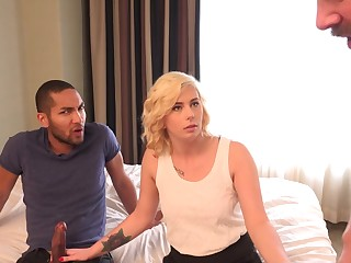 Golden-Haired Wife Gets Creampie and Spouse Eats It Clean
