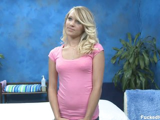 Wonderful blond Teagan S receives naked