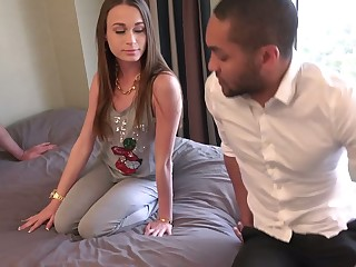 Hubby and Wife Share a Dastardly 10-Pounder and Some Creampie Cum