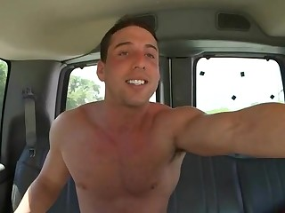 Hulk naked dude on chum around with annoy there of a car is ready to get all naughty