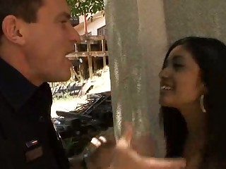 Ruby Rayes deals with an officer with a Foot Fetish and gets fuc