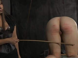 Bound up thrall acquires lusty gratifying her nasty twat