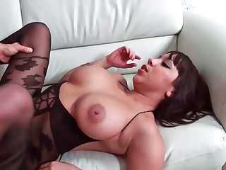 Ebony bitch thinks she's a slutty cowgirl
