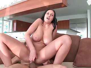 Horny milf Bella with big jugs and ass gets screwed hard