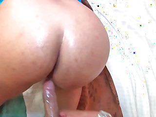 Lorena Lobos receiving large schlong on touching her pussy during hardcore