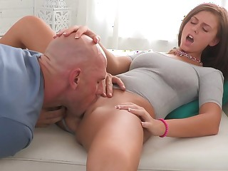 Teenaged Whitney taking chubby cock