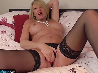 EuropeMature Aged grannies Amy and Cindy masturbation