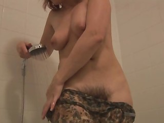 Unshaved Old woman I'd Liking for To Fuck takes a shower