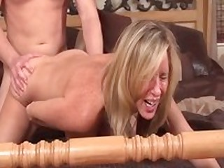 Foreign pornstar Jodi West in fabulous blonde, chubby tits adult scene