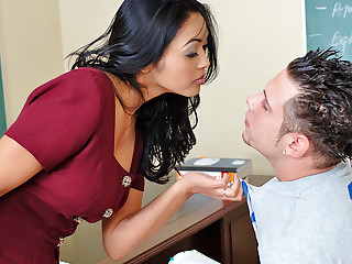 Mika Tan & Powder-room Espizedo in My First Sex Teacher