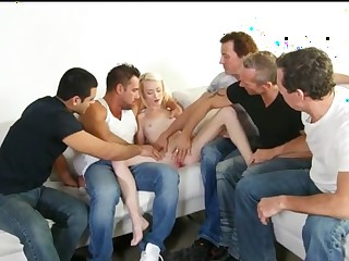 Pale Auric Prime Pussy GangBang