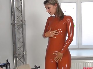 FEMALE Fog RUBBER DOLL TRANSFORMATION, FINGERING AND FAKE PENIS