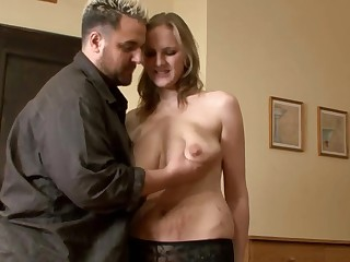 Blonde Meaningful Huge-Boobs-MILF fucked