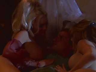 Hot threesome scene detach from admirable porn movie 'Pirates'