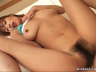 Hairy pussy sweetheart Ai Kurosawa drilled hard