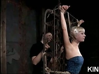 Lusty Honey around Bondage
