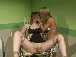 Juvenile nurse punishing slavegirl