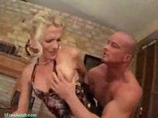 German Milf forced into sex by younger guy