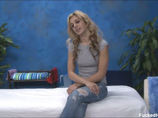 Blonde Misti shows her tits