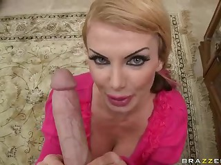 Breasty MILF Taylor Wane takes big cock of her dreams