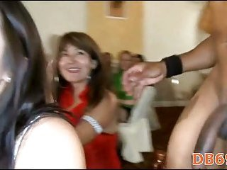 Party girls doing blow job