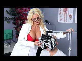 Nikita, a hawt optometrist, is crushing hard on one of her clients. When that babe learns that guy's coming in for an eye exam, that babe gives a decision to fuck with him a little - until this boy truly bonks her.