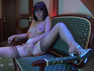 Mireille great nylon action