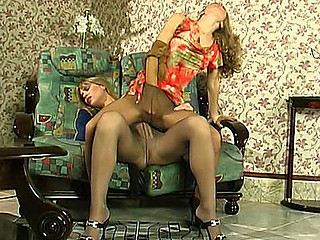 Kinky chicks crying out to get steamy amusement in control top hose
