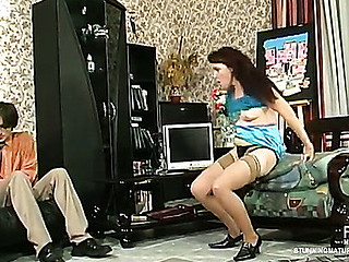 In spite of job interview steamy mature chick cowgirl riding on juvenile wang