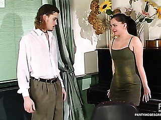 Laura&Mike mindblowing pantyhose movie