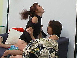 Lusty aged hottie burning with wish for doggystyle frenzy right on sofa
