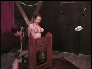 Subjugated Dark brown Gets Her Large Titties Tortured By Master Rick Savage