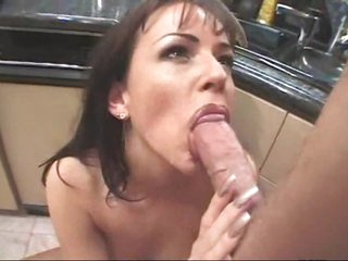 Anal sex with this whore in her kitchen
