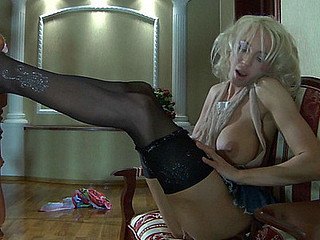 Christiana in awesome hose clip