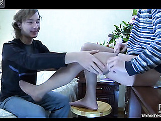 Paul&Silvester detached pantyhose mating movie scene
