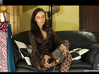 Irene in wicked pantyhose episode scene