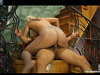 Flossie&Govard amazing pantyhose movie scene