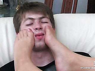 Gwendolen&Arthur horny nylon feet movie scene