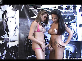 Yasmin&Nicole two shemales on episode