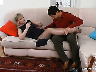 Amelia&Igor hawt anal pantyhose reinforcer