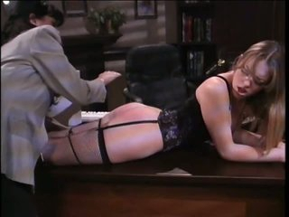 Kinky Thraldom Lesbians Spanking Their Asses In Lingerie At The Office