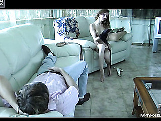 Guy jerking off with hose watching his girlfriend only of two minds yoke tights