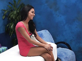 Dark Brown sweetheart from this act looks great in clothing and even more good when this babe stays nude. Watch how pal massages her wonderful well-tanned body with oil and stuffs her fur pie by his palpitating rigid knob.
