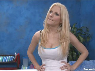 Well-endowed kermis Haley bares it in all directions from